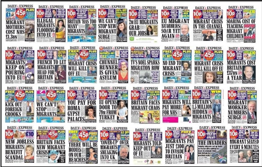 Daily Express anti immigrant headlines